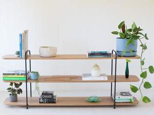 Staple Wide Shelf by The Staple Collection - Wire, Rod, Bookshelf, Minimal