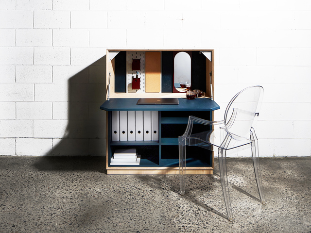 Archibald Writing Bureau by So Watt - Storage, Hutch, Plywood, Wax, Small Spaces, Desk