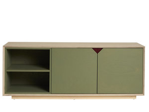 Clarke Junior Media Unit by So Watt - TV Unit, Birch, Ply, Custom, Small Spaces