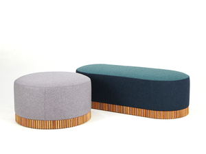 Dowel Ottomans by So Watt - Ottoman, Pouffe, Cushion, Upholstered, Living Room, Commercial