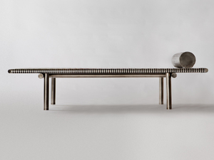 Aztec Daybed by Michael Gittings - Daybed, Weave, Steel, Stainless, Bench, Art, Sculpture