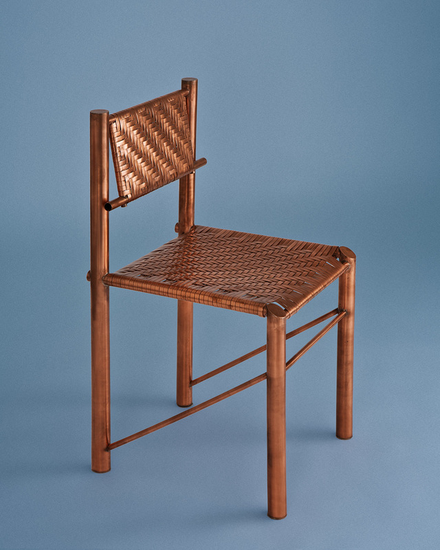 Winston Chair by Michael Gittings - Chair, Copper, Industrial, Weave