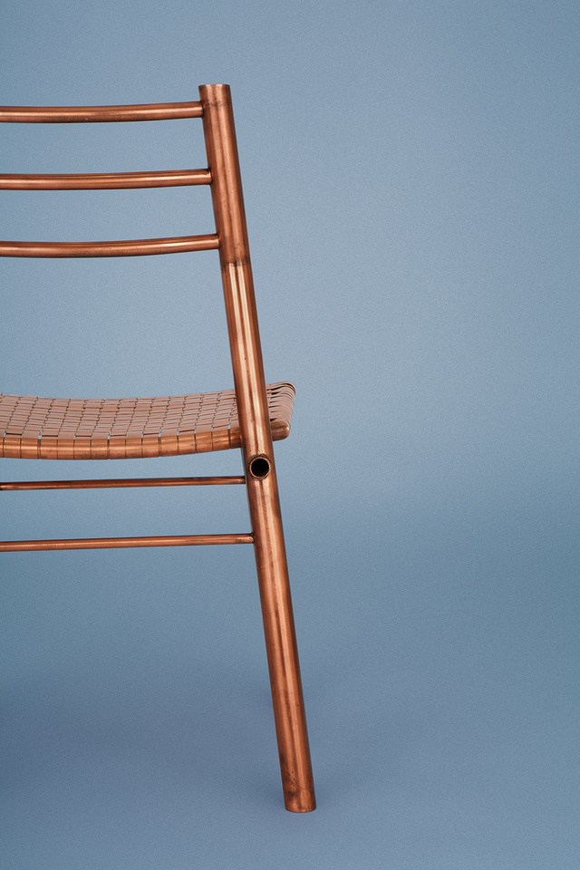 Caulfield Chair  by Michael Gittings - Copper, Chair, Weave, Dining