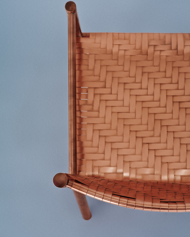 Esther Chair by Michael Gittings - Chair, Copper, Armchair, Weave