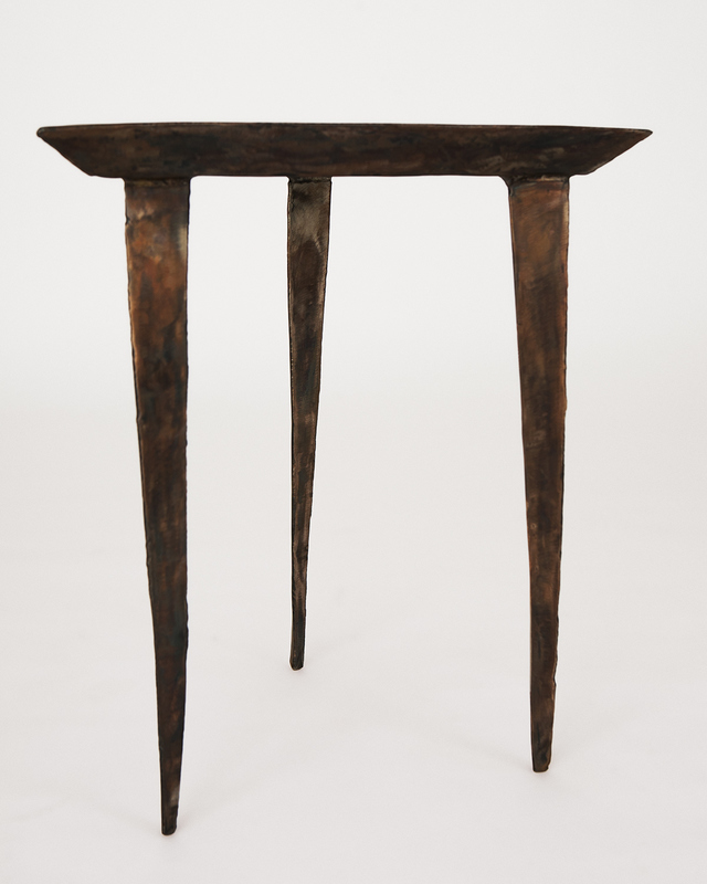 Stainless Steel Side Tables by Michael Gittings - Sculpture, Wonky, Stainless, Patina, Black