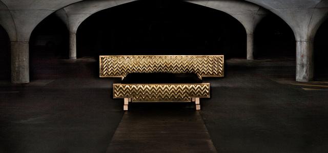Queen Nefertiti by Michael Gittings - Woven, Patterns, Bed, Brass
