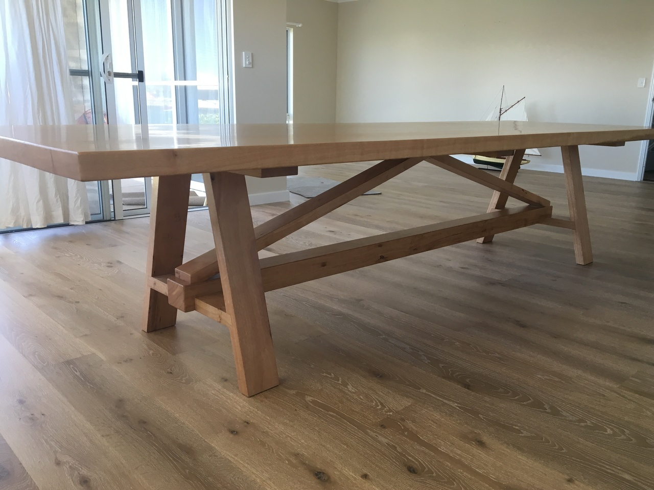 Solid Blackbutt Dining Table By Andrew Kristoffersson Handkrafted