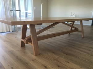 Solid Blackbutt Dining Table by Andrew Kristoffersson - Slab Dining Table, Blackbutt Timber, Custom Design, Solid Timber Dining