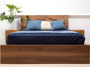 Helga Recycled Timber Bed by Retrograde Furniture - Recycled Timber, Timber Bed, Recycled Timber Bed
