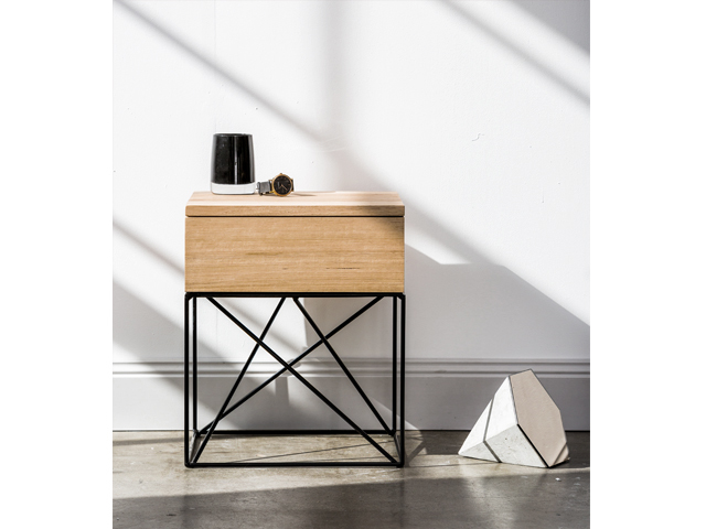 Bedside Table by Redfox & Wilcox - Bedside Table, Timber, Metal