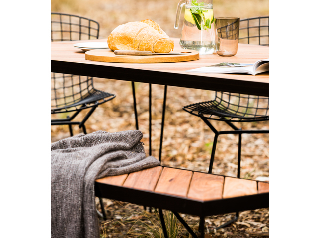 Picnic Table (outdoors) by Redfox & Wilcox - Outdoor Dining Table, Metal, Timber, Outdoors