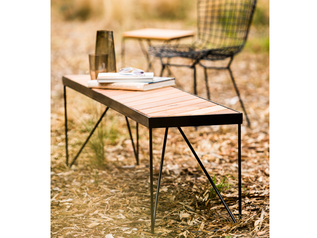 Picnic Benchseat (outdoors) by Redfox & Wilcox - Metal, Timber, Outdoors, Benchseat