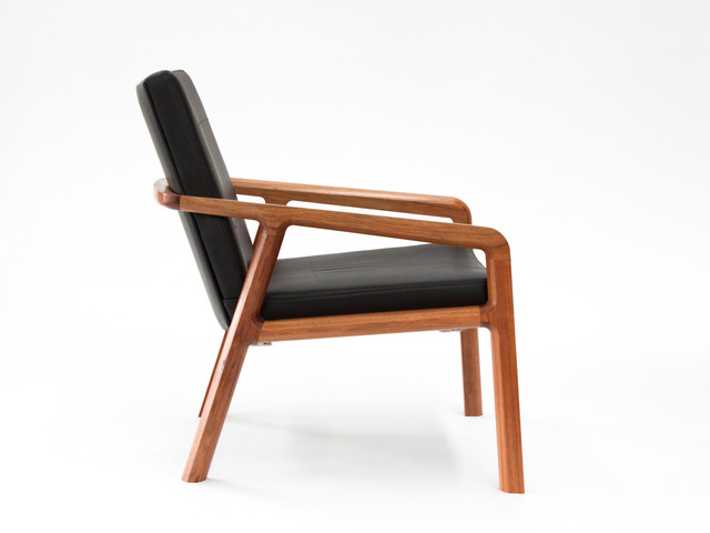 R-Chair by Matt Pearson - Arm, Armchair, Lounge, Loungechair, Chair, Timber, Leather, Upholstered, Low