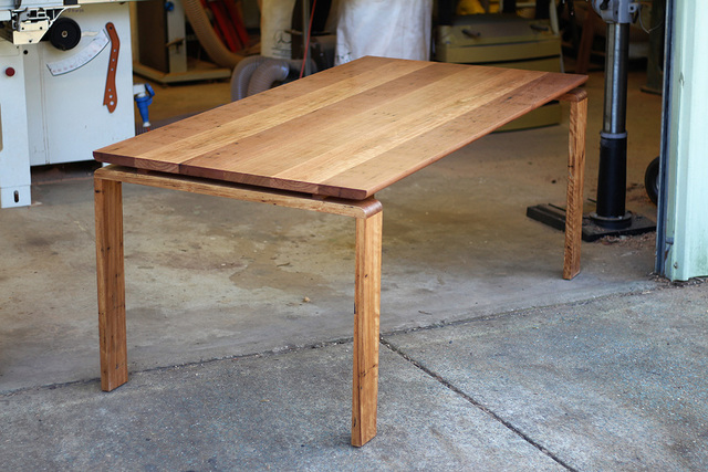 Marshall dining table by David Cummins - Dining Table, Minimalist, Contemporary, Sustainable, Recycled Hardwood