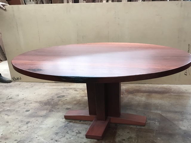 Jarrah table  by Andrew Kristoffersson - Jarrah Dining, Round Dining Table, Solid Timber Dining