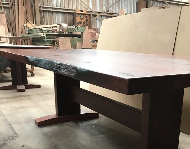 Jarrah Dining Table by Andrew Kristoffersson - Jarrah Dining, Timber Dining, Solid Timber Dining, Pedestal Base, Jarrah