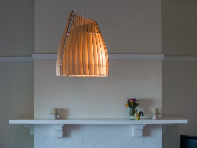 V Demi Conus Pendant by Geoffrey Cameron Marshall - Custom Lighting, Made To Order, Modern, Pendant, Lighting
