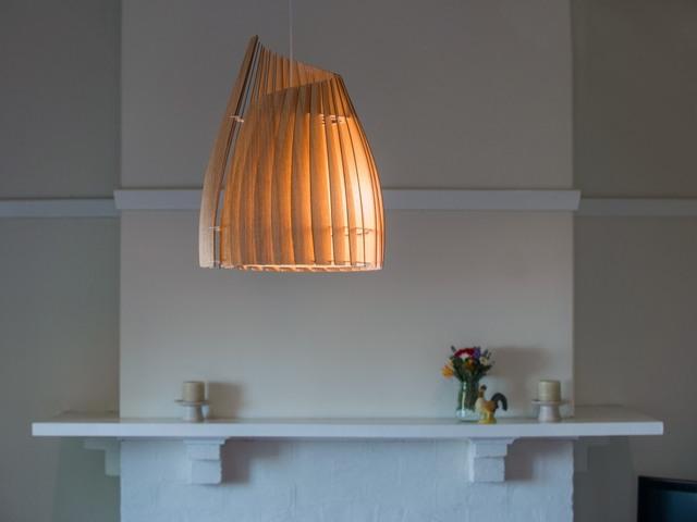 V Demi Conus Pendant by Geoffrey Cameron Marshall - Custom Lighting, Made To Order, Modern, Pendant, Lighting