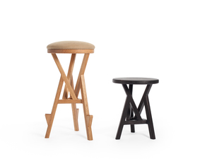 Glacier Stool/Side Table by Geoffrey Cameron Marshall - Custom Furniture, Made To Order, Modern, Furniture, Stool