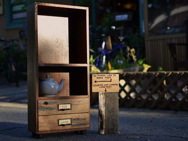 Coffee/Tea Cabinet by The Bower Woodworks - Tea Cabinet, Wood, Cabinet, Reclaimed, Drawers, Shelves, Kitchen, Benchtop