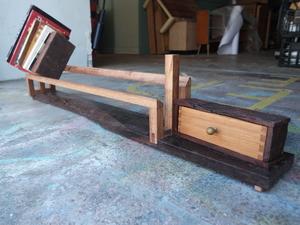 A Book Shelf by The Bower Woodworks - Bookshelf, Books, Desktop, Drawer, Reclaimed, Reuse, Live Edge