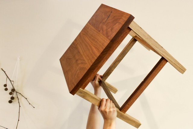 BWR Lamp Table by The Bower Woodworks - End Table, Side Table, Lamp Table, Reclaimed, Reuse, Hardwood, Wood