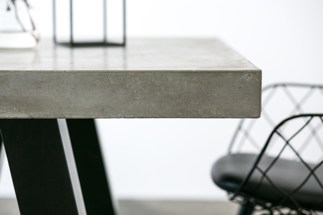 SLABS by Design | London Concrete Dining Table by SLABS by Design - CONCRETE DINING TABLE, DINING TABLE, INDUSTRIAL TABLE, TRESTLE TABLE, BOARDROOM TABLE, OUTDOOR TABLE, STEEL, CONCRETE, INDUSTRIAL FURNITURE