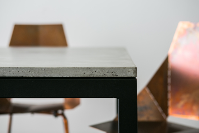 SLABS by Design | Spectre Concrete Dining Table by SLABS by Design - Concrete Dining Table, Concrete Desk, Commercial Furniture, Office Furniture, Steel Dining Table, Minimalist Table, Hand Made Furniture, Custom Design, Outdoor Furniture, Outdoor Dining Table