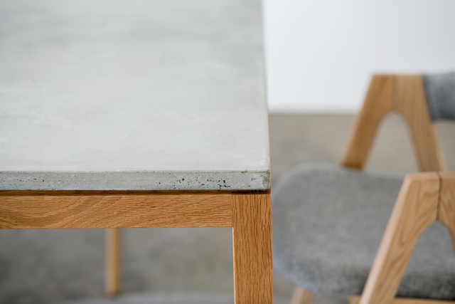 SLABS by Design | Venice Concrete Dining Table by SLABS by Design - Concrete Dining Table, Concrete Desk, Commercial Furniture, Office Furniture, Steel Dining Table, Minimalist Table, Hand Made Furniture, Custom Design, Outdoor Furniture, Outdoor Dining Table