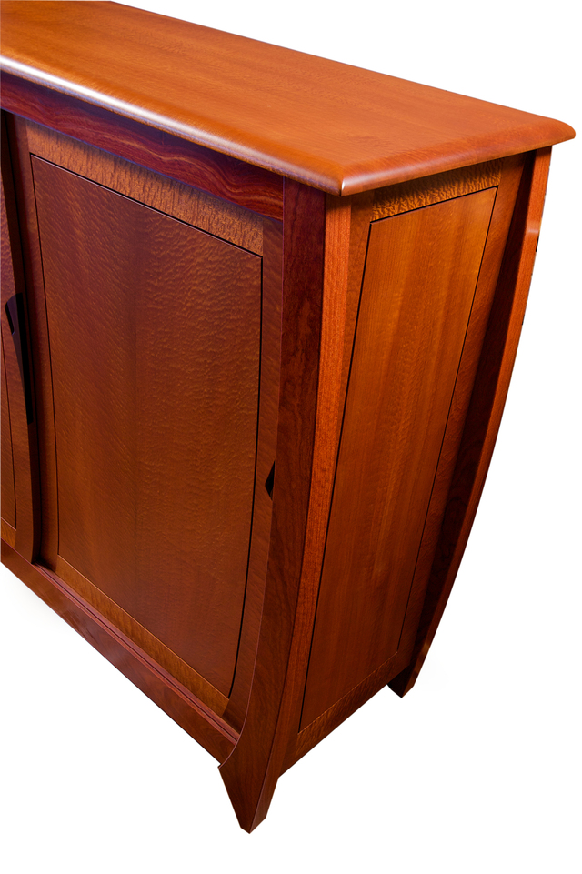 Figured Sapelle, Cooktown Ironwood & Ebony Cabinet - Orb Style Wooden Cabinet by Will Marx - Desginer Wooden Cabinet, Solid Timber Cabinet, Custom Handmade Furniture, Minimalist Sideboard, Credenza, Buffet, Contemporary Furniture, Minimalist Cabinet, Home Office Furniture, Wenge Timber