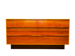 Rosewood & Wenge Credenza - Mid Century Classic Solid Timber Sideboard Buffet by Will Marx - Solid Timber Sideboard, Designer Wooden Cabinet, Minimalist Buffet, Custom Handmade Desk, Credenza Desk, Designer Cabinet, Mid Century Classic, Contemporary Style, Wenge Timber, Home Office Furniture