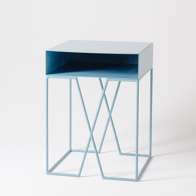 Tangram Bedside Table by Idle Hands Design - Bedside, Table, Side Table, Metal, Modern, Bedroom