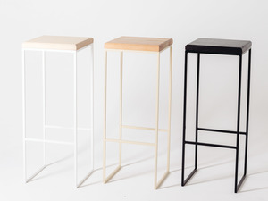 Straight Up Stool by Idle Hands Design - Stool, Bench, Seat, Chair, Metal, Timber