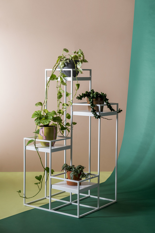 Tall and Corner Plant Stand by Idle Hands Design - Plant Stand, Plant, Shelve, Metal