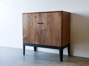Custom Record Cabinet by Nathan Day Design - Custom, Blackwood, Record Cabinet