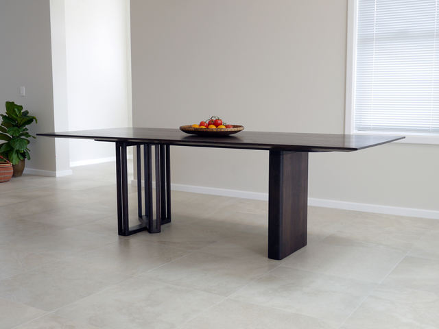 Ebonised Walnut Dining Table by Nathan Day Design - Ebonised, Ebonized, Walnut, Custom Designed, Table
