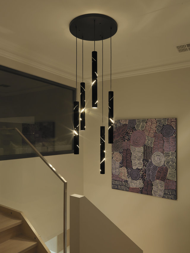 Black Rain by ilanel design studio - Pendants, Black, Tubes