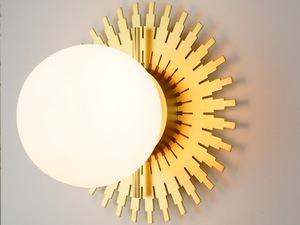 Coco Pearl by ilanel design studio - Wall Light, Sconce, Gold, Glass, Deco