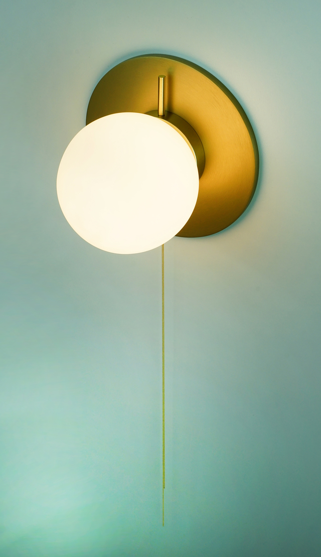 Pearl Sconce by ilanel design studio - Wall Light, Sconce, Gold, Glass, Deco