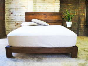 Hauser Bed by Lloyd Brooke - Timber Dining, Timber Furniture, Hardwood Furniture, Furniture Makers, Furniture Melbourne, Recycled, Reclaimed, Handmade Furniture, Melbourne Makers, Handmade