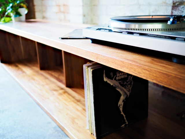 Kosta Vinyl Storage by Lloyd Brooke - Timber Furniture, Custom Dining, Hardwood Furniture, Furniture Makers, Furniture Melbourne, Recycled, Reclaimed, Melbourne, Handmade Furniture, Melbourne Makers
