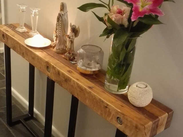 Hallway Table Rustic Industrial by Pioneer Furniture Australia - #Hallway, #Halltable