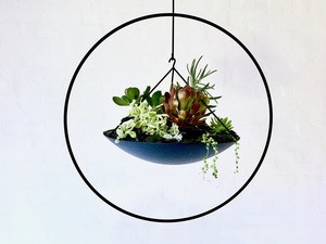 Centred - hanging planter by Liz Bowtell - Hanging Planter, Planter, Plants, Art, Feature, Garden, Decor