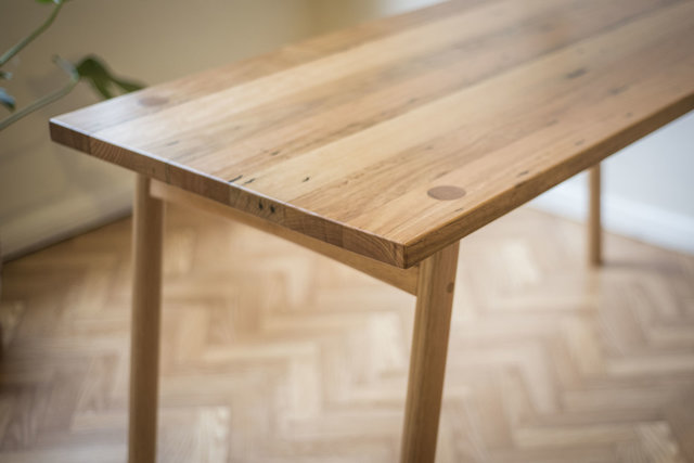 Recycled Hardwood Dining Table by Patrick Holcombe - Desk, Small Table, Recycled Timber, Danish, Mid Century, Custom, Handmade