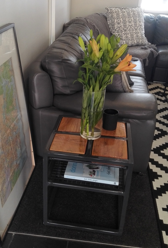 Quad Side Table by Pioneer Furniture Australia - Table, Rustic, Industrial, Decor, Mancave, Living Room, Home Decor, Custom Made
