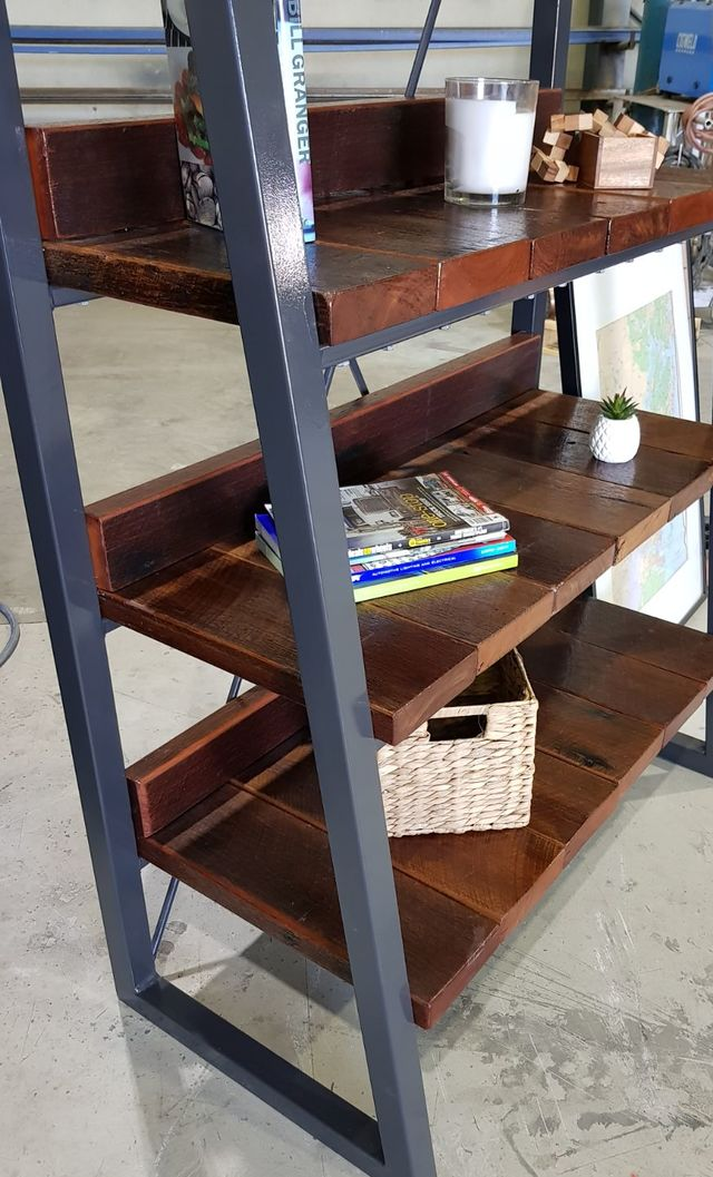 Rustica Industrial Bookshelf by Pioneer Furniture Australia - Bookshelf, TV Console, Entertainment Unit, Reclaimed Timber, Rustic