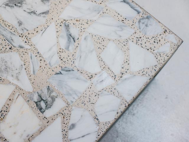 Alpha Terrazzo Table by Sarah Kalidis - Terrazzo, Concrete, Steel, Terrazzo Table, Coffee Table, Concrete Table, Aggregate