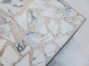 Alpha Terrazzo Table by Sarah Kalidis - Terrazzo, Concrete, Steel, Terrazzo Table, Coffee Table, Concrete Table, Aggregate