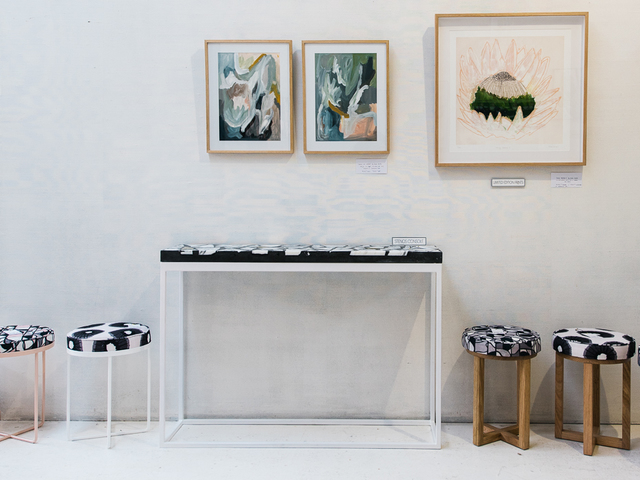 Alpha Console Table by Sarah Kalidis - Alpha, Console Table, Hall Table, Terrazzo, Concrete, Terrazzo Furniture, Concrete Furniture, Steel Furniture
