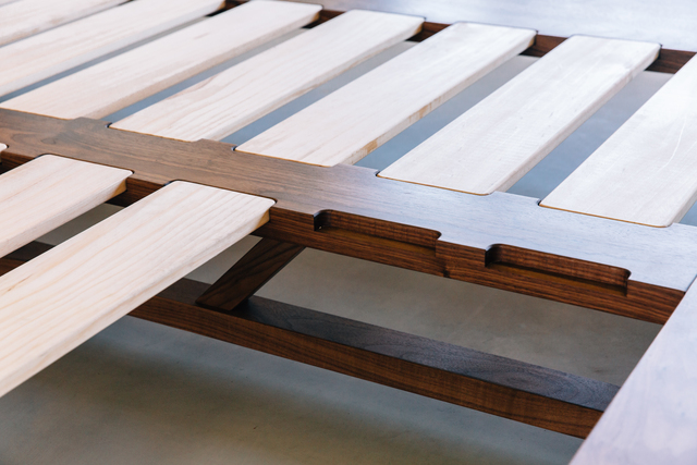 Sunday Bed by Jeremy Lee - Bed, Walnut, Platform, Timber, Sustainable, Jdlee